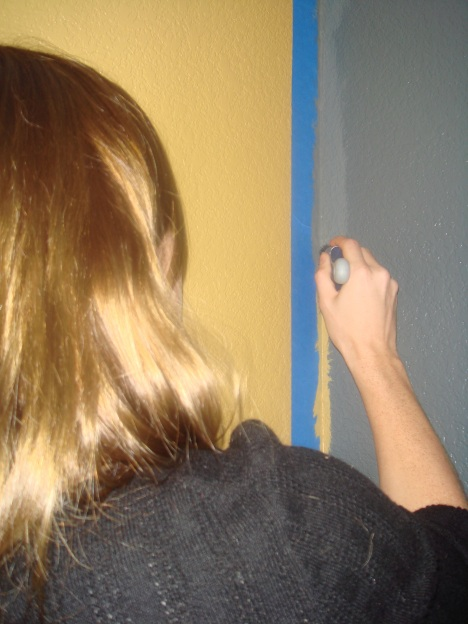 painting a corner