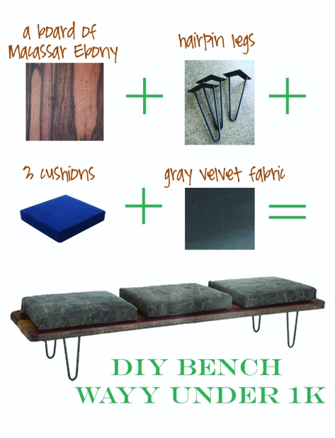 entryway bench diy
