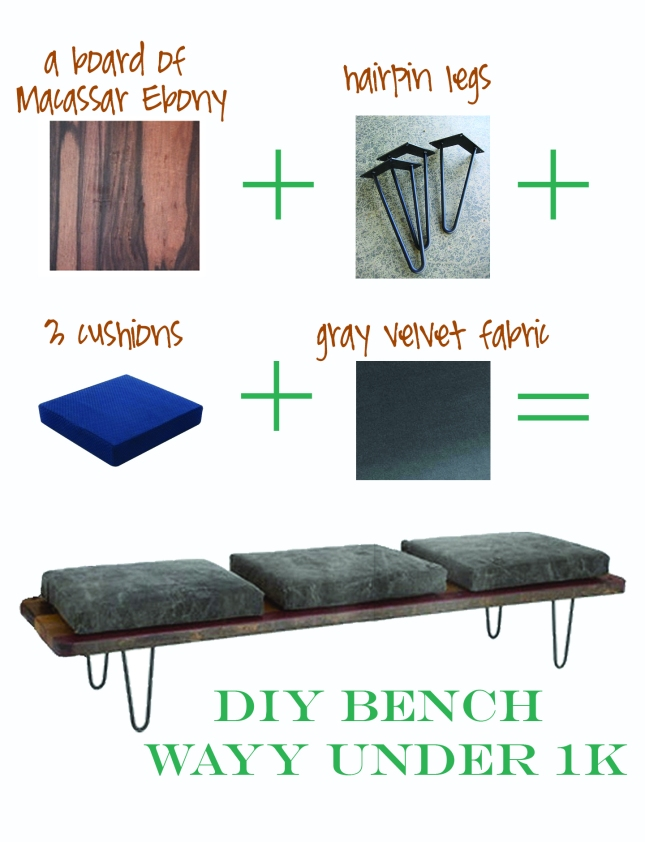 foyer bench diy