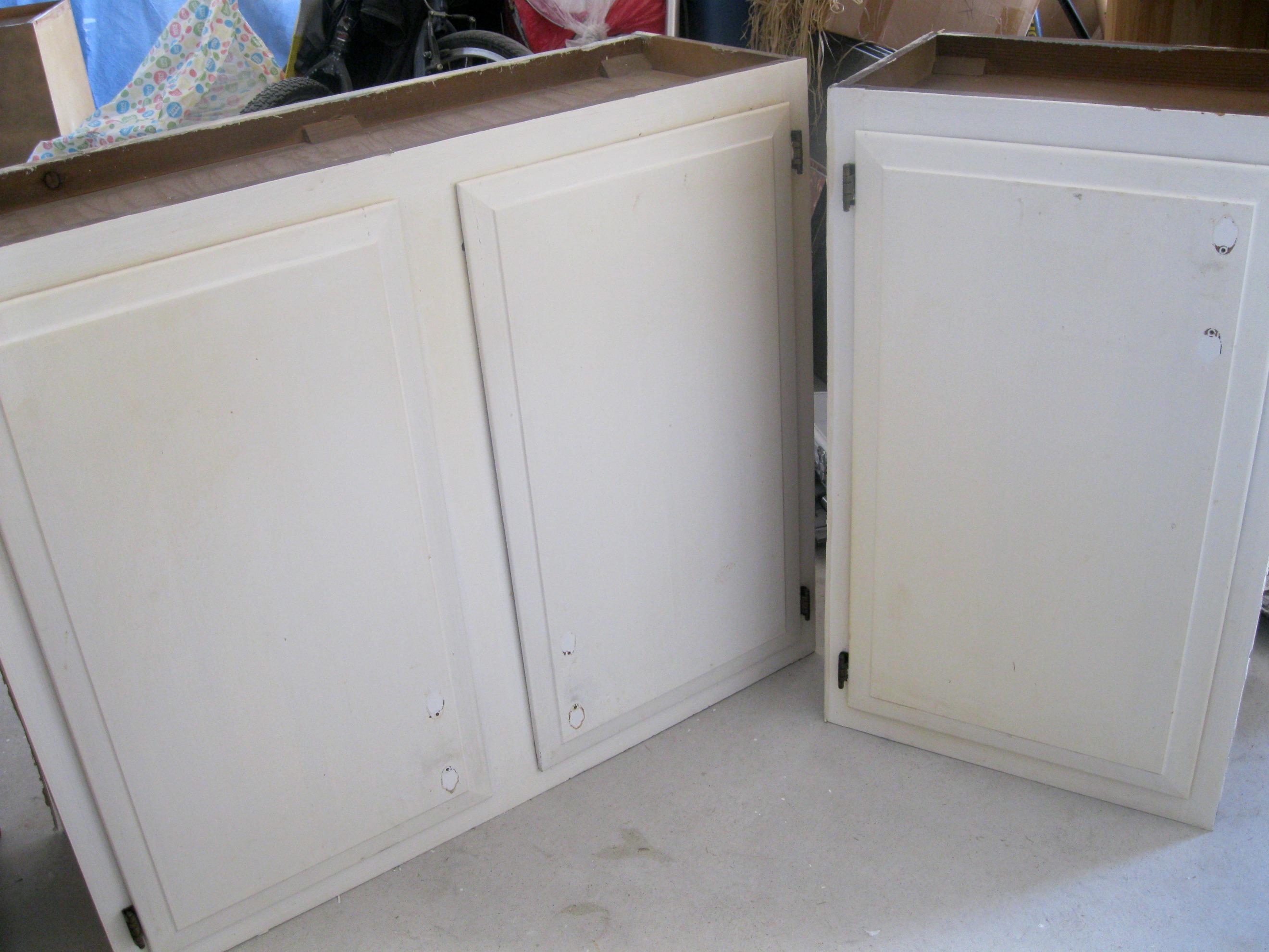 peeling - Laundry Room Wall Cabinets
