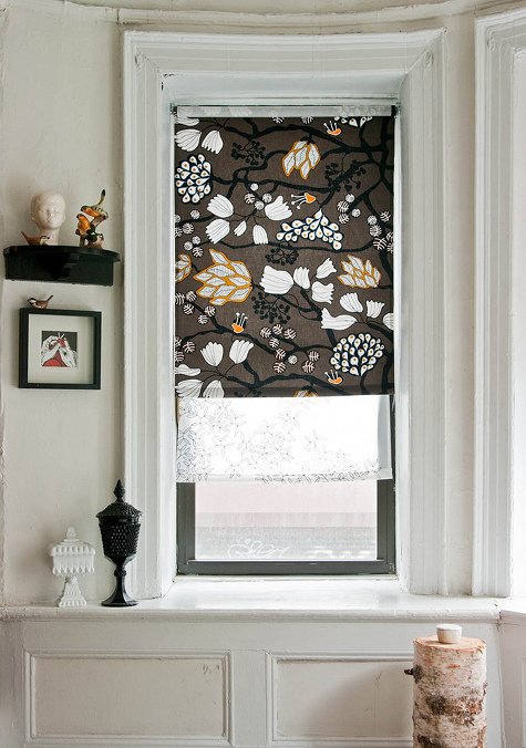 Diy window treatment ideas roller shades what the vita for Curtains that look like roman shades
