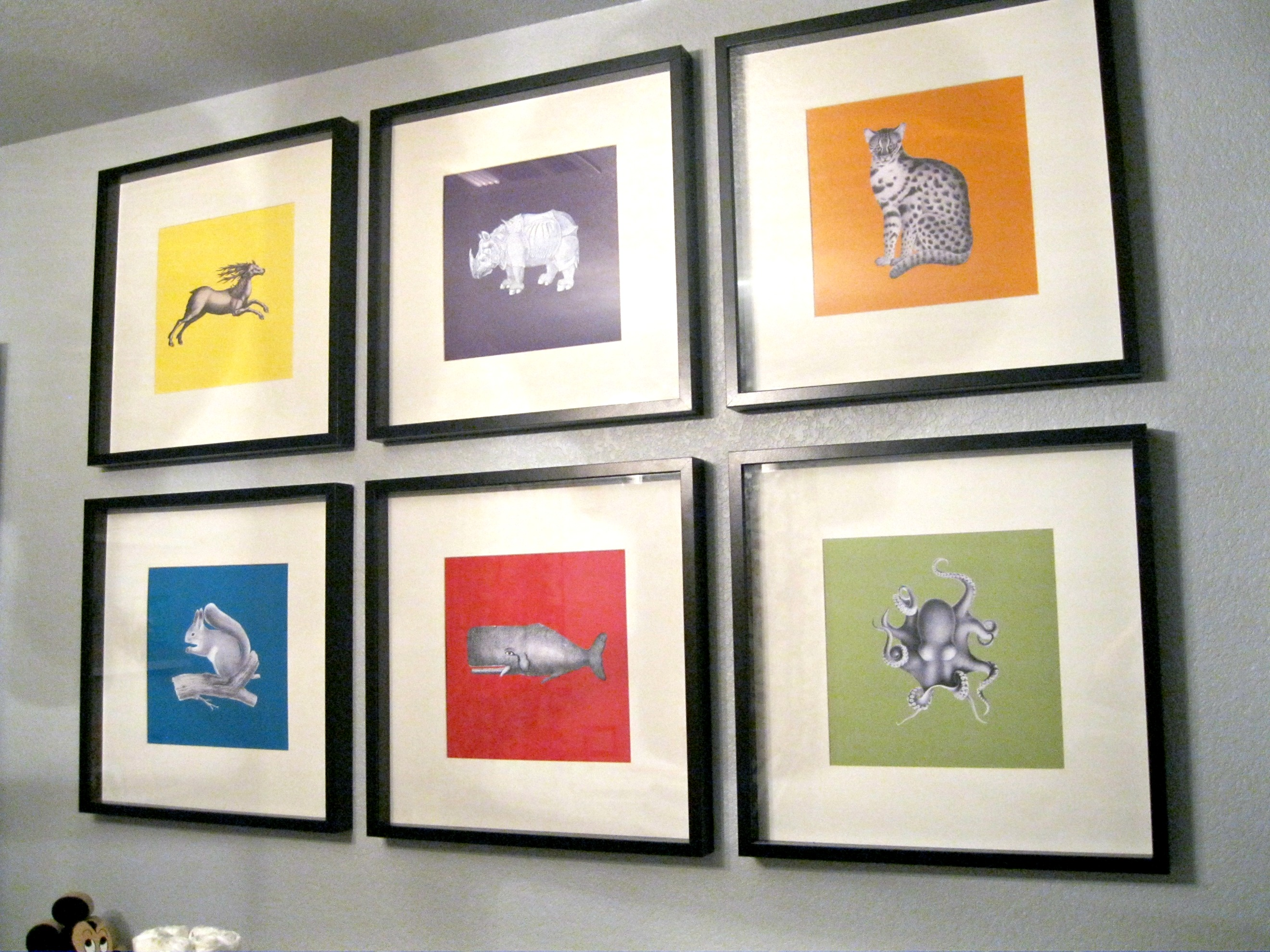 Weird Animals Some Easy Diy Art For The Nursery What