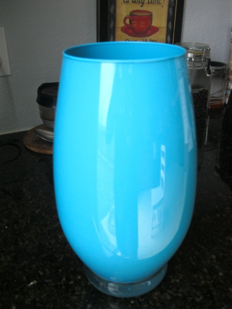 pretty blue vase