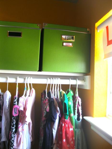 green boxes closet