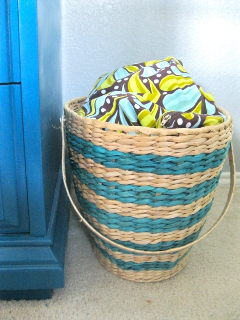 diaper basket nursery