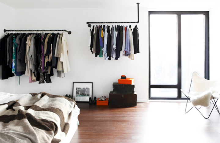 Amazing A Few Months Ago, I Saw This Very Cool Home At Brick House That Had This  Clever Solution For Hanging Up Clothes Sans Closet.